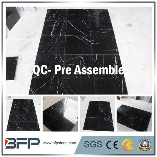Shinning Black Marble Floor Tile with Elegant Design for Interior/Exterior Residence/Hotel Flooring pictures & photos