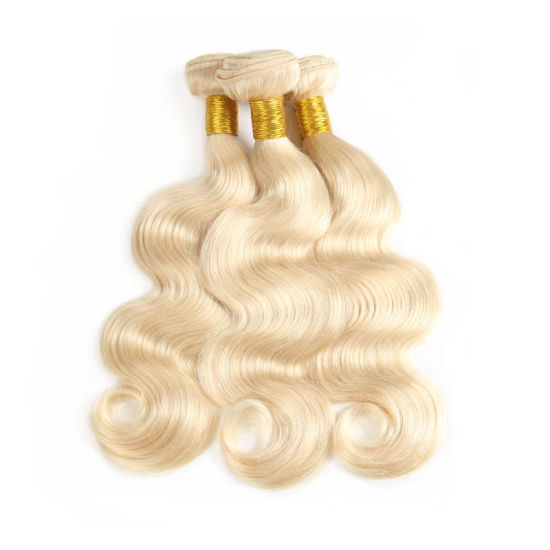 Blonde Brazilian Hair Bundles 100% Human Hair #613 Remy Hair Body Wave Free  Shipping