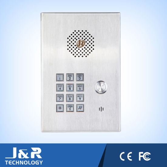 Stainless Steel Wall Mount Speakerphone, Service Phone, GSM Audio Intercom