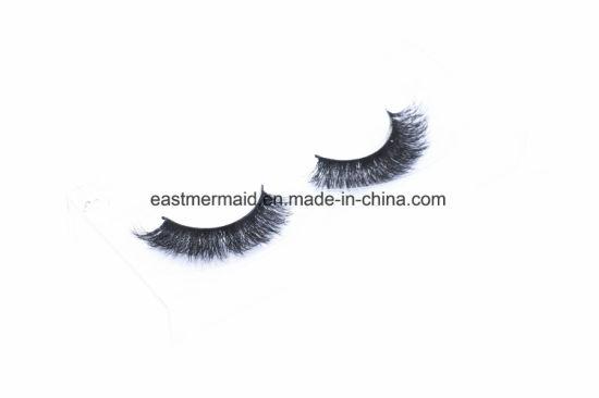 8fe899c6184 Free Shipping 3PCS/Lot 100% Handmade Real Mink Fur False Eyelash 3D Strip  Mink Lashes Thick Fake Faux EMA08