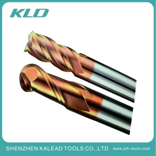 High Hardness HRC60 Cutter 4 Flute Tungsten Carbide Square End Mill and Ball End Mill for CNC Milling Machine Tools pictures & photos