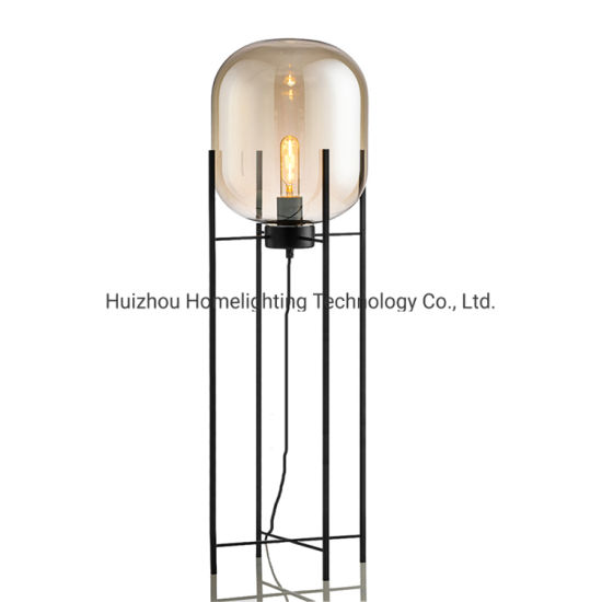 Jlf-3096 Post Modern Living Room Decorative Glass Floor Standing Lamp