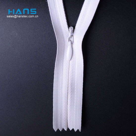 Hans Direct From China Factory Premium Quality Invisible Zipper 60cm