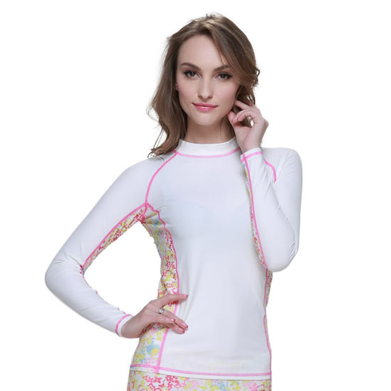 Lycra Sportswear Women's Nylon Rash Guards Diving Suit Swimsuit Surfing Suit