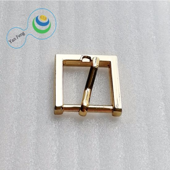 ID13.5mm Custom Fashion Metal/Alloy Gold Pin Iron Square Shape Leather Belt Buckle for Bag Accessories (YF200-19)