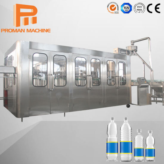 Automatic Pet Bottle Mineral Pure Aqua Natural Drinking Water Complete Bottling Filling Machine