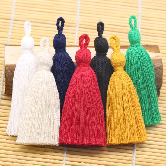 Wholesale 8cm More Colors Cotton Tassel Lace Trim for Decoration