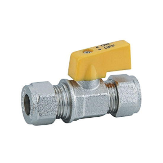 High quality Min Ball Valve for Gas with Yellow Handle