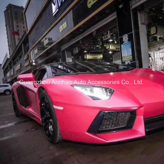 Pink Lightning Matte Metal Satin Car Wrap Foil
