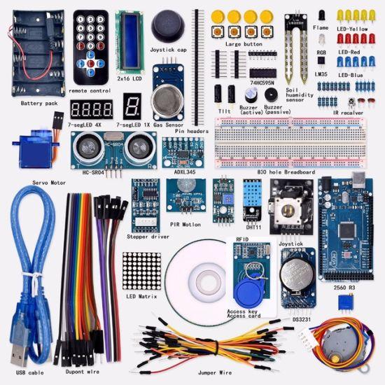 Upgraded Advanced Version Starter Kit LCD 1602 Mega 2560 Starter Kit for Arduino RFID Relay Motor Buzzer