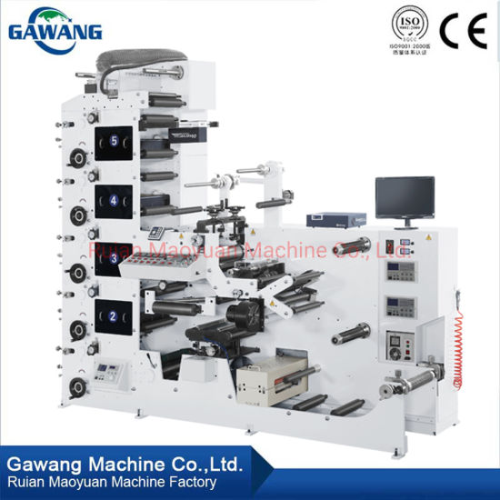 New Series Machine Plastic Bottle Label Printing Machine 4 Color Printing Machine Paper Printing Machine with Ce Standard