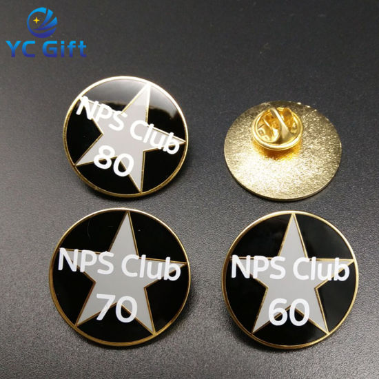 Cheap Customized Gold Plated Enamel Metal Pins with Any Logo Design (BG05-B)