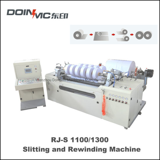 Surface Slitting and Rewinding Machine with Automatic Meter Counting