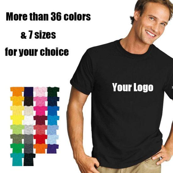 Wholesale Custom Plain Tee Shirt Multi Colors Breathable Summer Cotton T Shirt for Men and Women Plus Size Printing T Shirts
