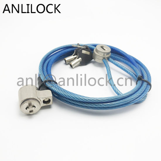 Factory Wholesale Patent Notebook Computer Lock with Key, PC Chain Cable Laptop Security Wire Lock with Combination
