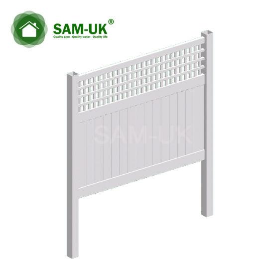 6' X 8' Veranda Vinyl PVC Privacy Fencing with Ornamental Top Section
