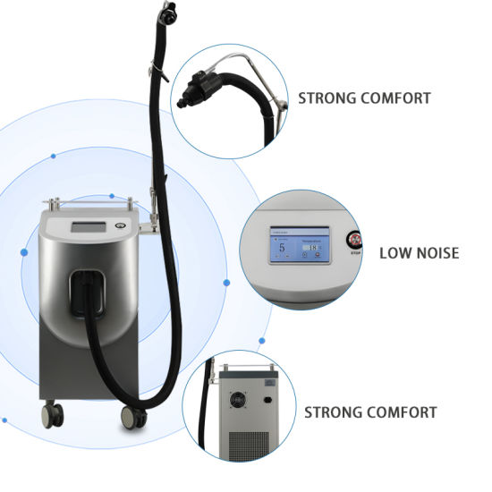 Hotest Professional Skin Cooler Cryo Skin Machine Zimmer Cryo Skin Machine Cryo Reduce Pain -25 Temperature for Laser Treatment Skin Cooler Machine