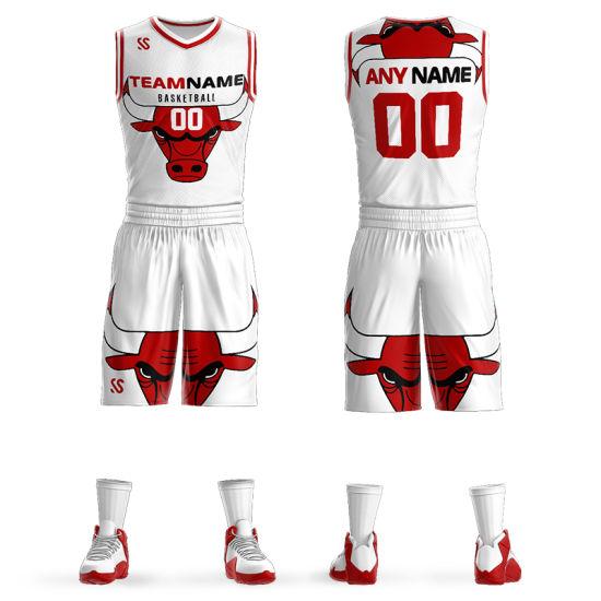 Custom Full Sublimation Printing Cheap Basketball Uniforms Jersey ...