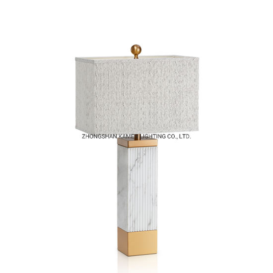 Simple Modern Design Creative Marble Decoration Table Lamp (Km5011) pictures & photos
