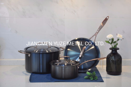 3-Ply Stainless Steel Cookware Set with PVD Coating, Kitchen Utensils