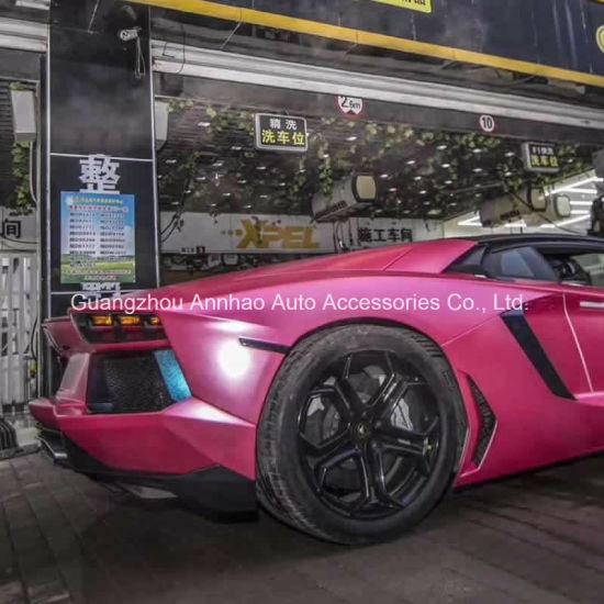 China Pink Lightning Matte Metal Satin Car Wrap Foil - China Pearl