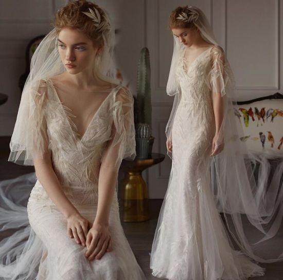 Sexy Fashion Bridal Gown Women Lady Lace Fishtail Wedding Dress