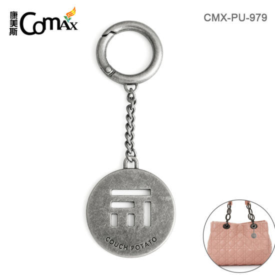 New Fashion Customized Die Cut Bag Brand Hang Tag with Hook and Chain