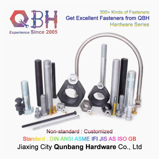 Qbh Wholesale Fastener Hardware Parts Zinc Black HDG Metric Hex Carbon Stainless Steel Class 10.9 JIS B1189 Flange Bolting