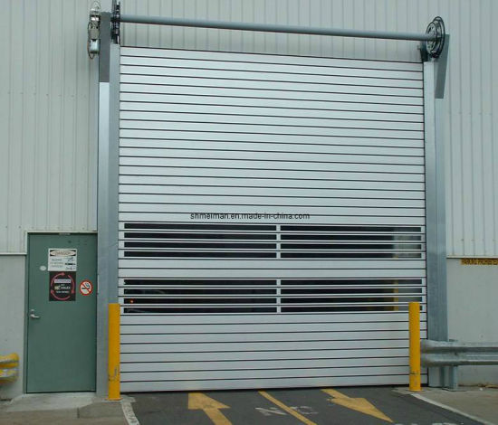 China Thermal Insulated Hard Metal High Speed Roll Up Garage Door