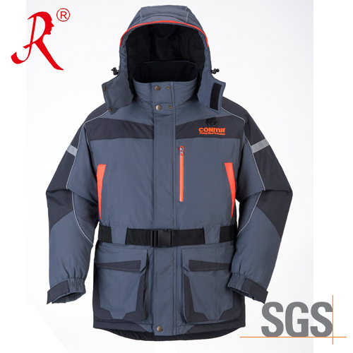 Waterproof Winter Quilted Sea Fishing Jacket (QF-9049A) pictures & photos