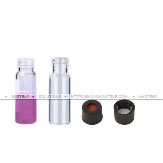 ND13 Clear Pharmaceutical Glass Vials with Screw Neck and Cap
