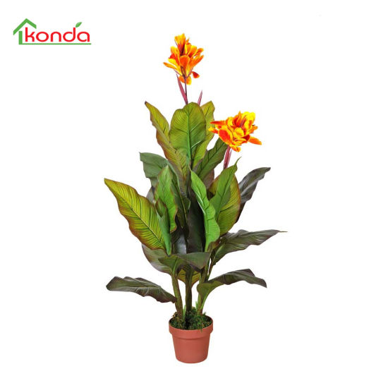 Wholesales Artificial Plant Silk Flowers in Pot for Garden Home Decoration