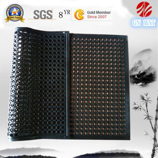 Anti Slip Drainage Rubber Floor Mat/Anti Fatigue Rubber Kitchen Flooring/Oil Resistance Hotel Rubber Matting, Ship Deck Rubber Tiles pictures & photos