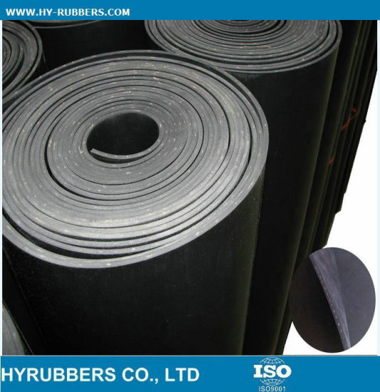 Factoty Produce Black Rubber Sheet with Cloth Inserted