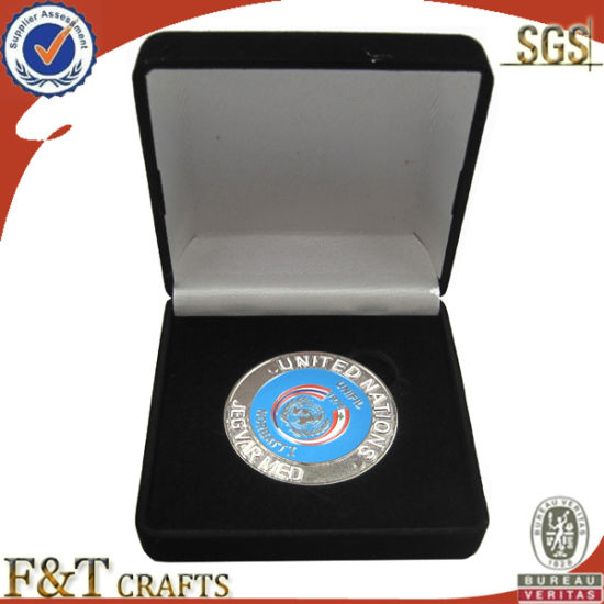 Metal Custom Wholesale Coin with Gift Box