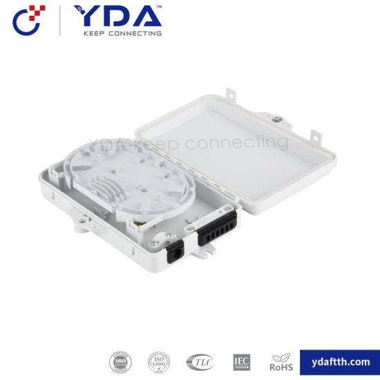 FTTH Plastic Terminal Box 6 Core Fiber Optic Distribution Box