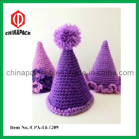 Purple Party Hat Crochet Pattern for Kids (CPA-14-1209) pictures & photos