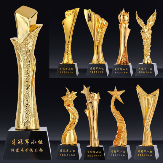 Wholesale Acrylic Displaypromotional Customized Metal Trophies for Gift Award Empty Plexiglass Trophies Cup Blanks with Base