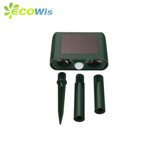 Pest Control UV Resistant Electrical PIR Sensor Solar Powered Ultrasonic Animal Repeller