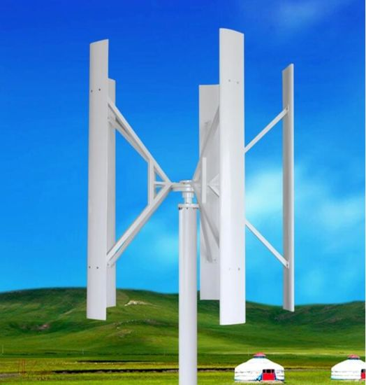 AC-120V 5kw Vertical Axis Wind Turbine for Home Use (SHJ-VH5000)