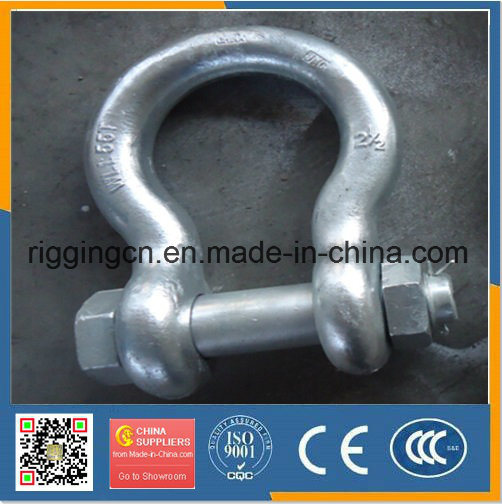 High Quality Hot Drop Die Forged Bow Shackle G209 with Screw Pin pictures & photos