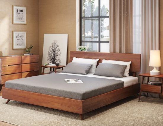 China Modern Home Bedroom Furniture Single Double Bed China