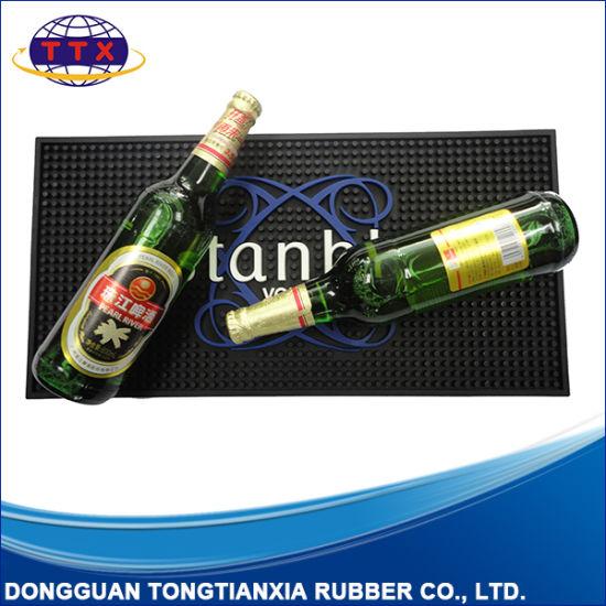 Liquid Proof Custom Logo Embossed Promotion Bar Drip Mat