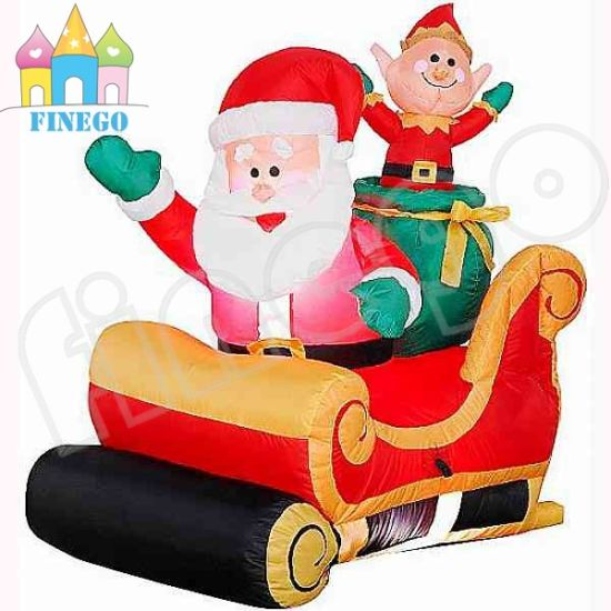 christmas inflatable santa claus driving snowmobile sleigh sled - Mickey Mouse Christmas Blow Up