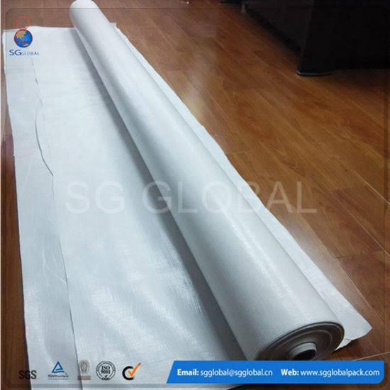 Double Waterproof 2.44m PE Tarpaulin Fabric in Roll pictures & photos
