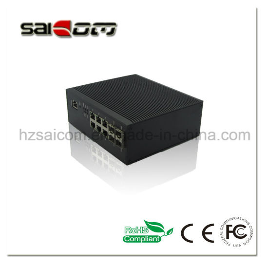 Saicom 10 ports Industrial Unmanaged Gigbit Fiber Network Switch pictures & photos