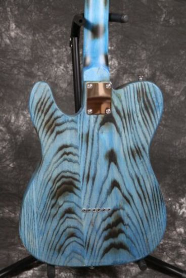 Ash Wood Body Burning Finish Quality Switch String Through Body Tele Electric Guitar Guitarra pictures & photos