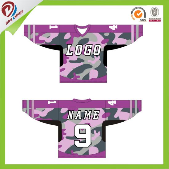 Best Selling Sublimation Blanks Coolmax Camo Ice Hockey Jersey Design Wholesales pictures & photos