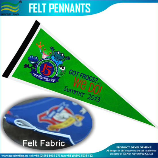 Mall/Supermarket/ Shop /School Event Felt Pennant and Pennant Flag (M-NF12F13014) pictures & photos