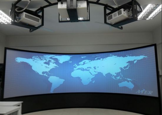 china simulator multi channel curved projection screen projector